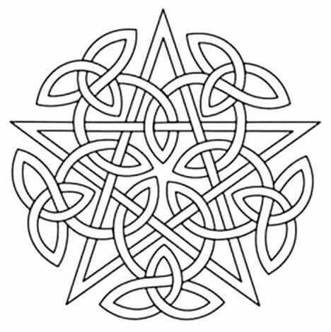 468x470 Coloring Page Wicca Celtic Knots, Celtic Patterns