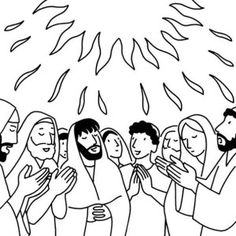 236x236 Pentecost Coloring Page Holy Spirit, Jerusalem And Bible