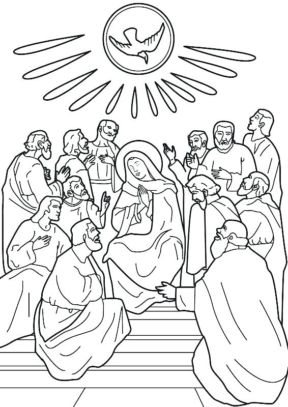 566x800 Pentecost Coloring Page Holy Spirit Coloring Page Pages Draw