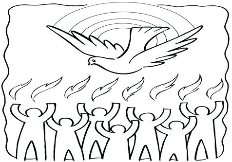 476x333 Pentecost Coloring Pages Coloring Trend Medium Size Holy Spirit