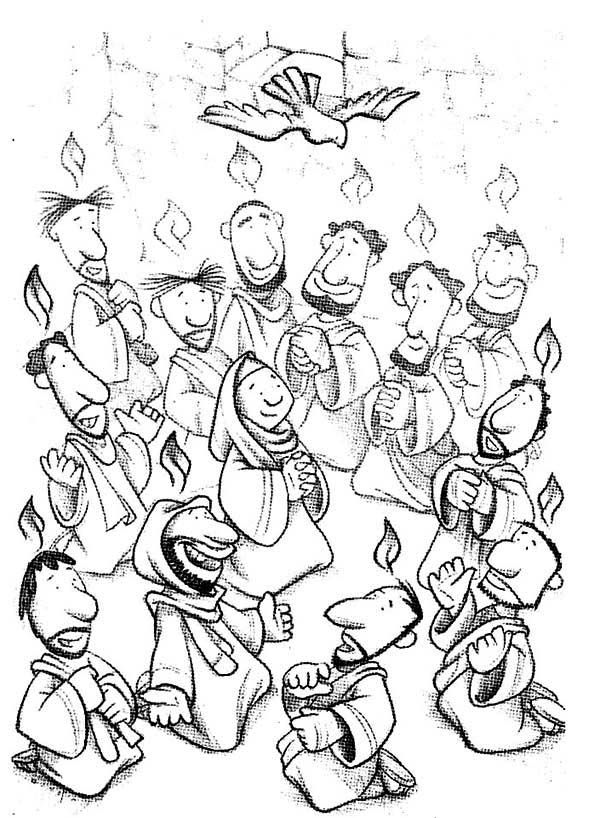 600x818 Feast Of The Weeks In Pentecost Coloring Page Parenting