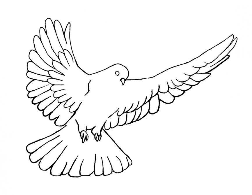 866x669 Holy Spirit, Dove, Pentecost Coloring Page Crossmap