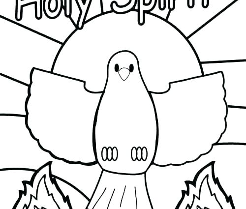 500x425 Spirit Coloring Pages Holy Spirit Coloring Page Holy Spirit