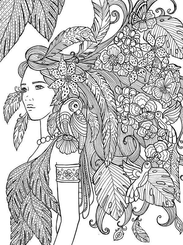 600x801 Adult Coloring Pages Of People