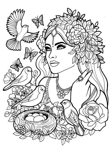 385x512 Coloring Pages People Free Coloring Page