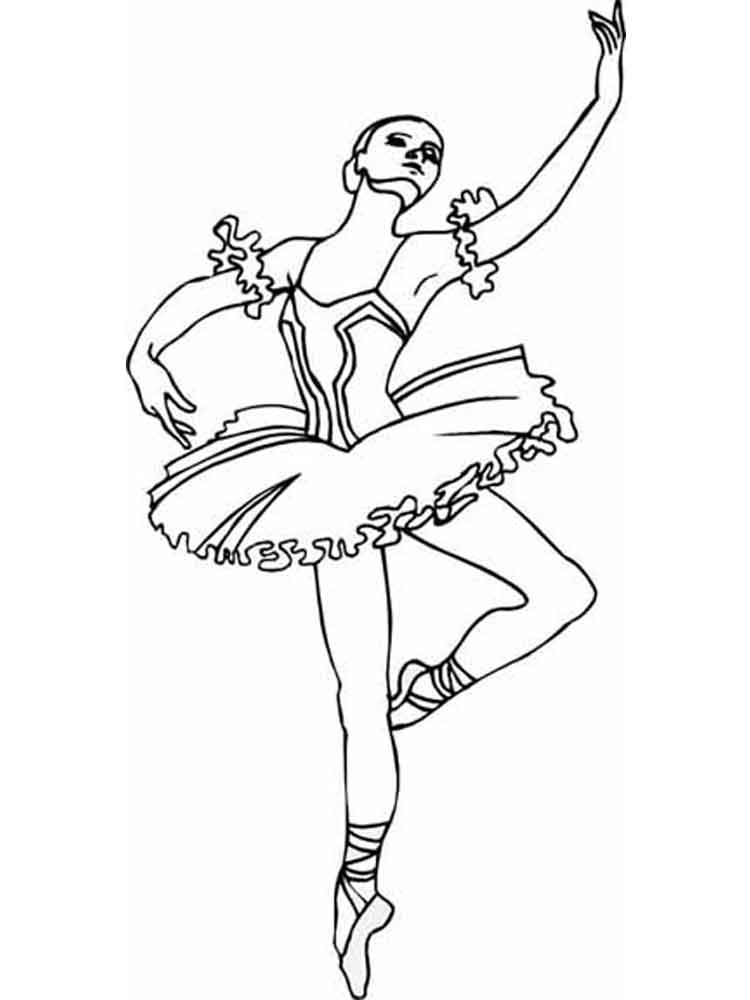 750x1000 Ballet Coloring Pages Free Printable Ballet Coloring Pages
