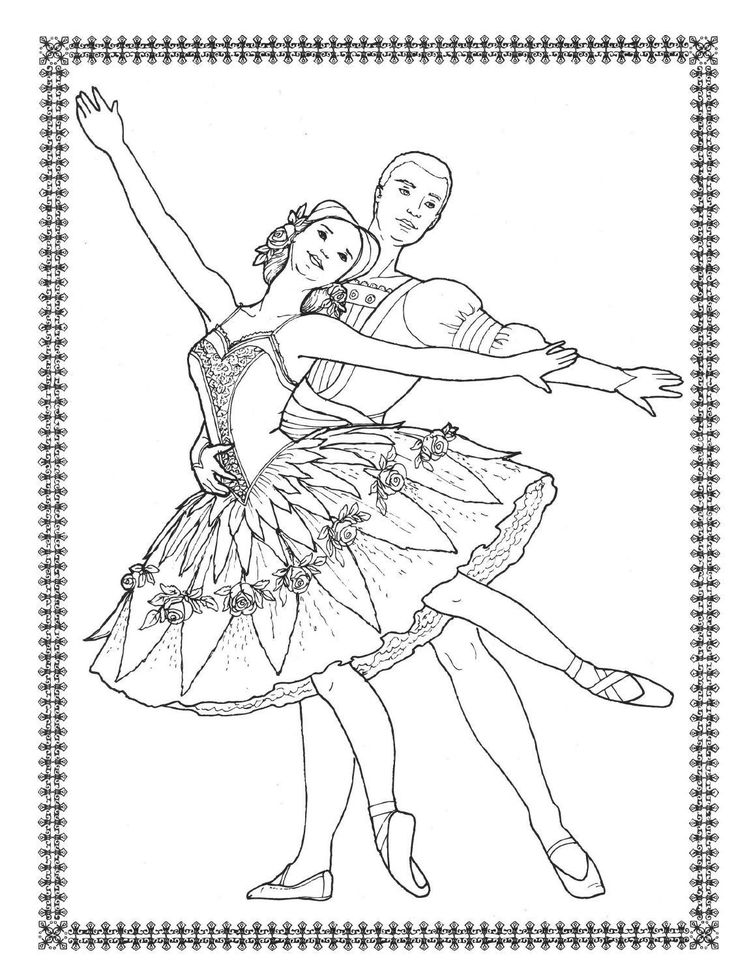 736x971 Best Dancers To Color Images On Coloring Books