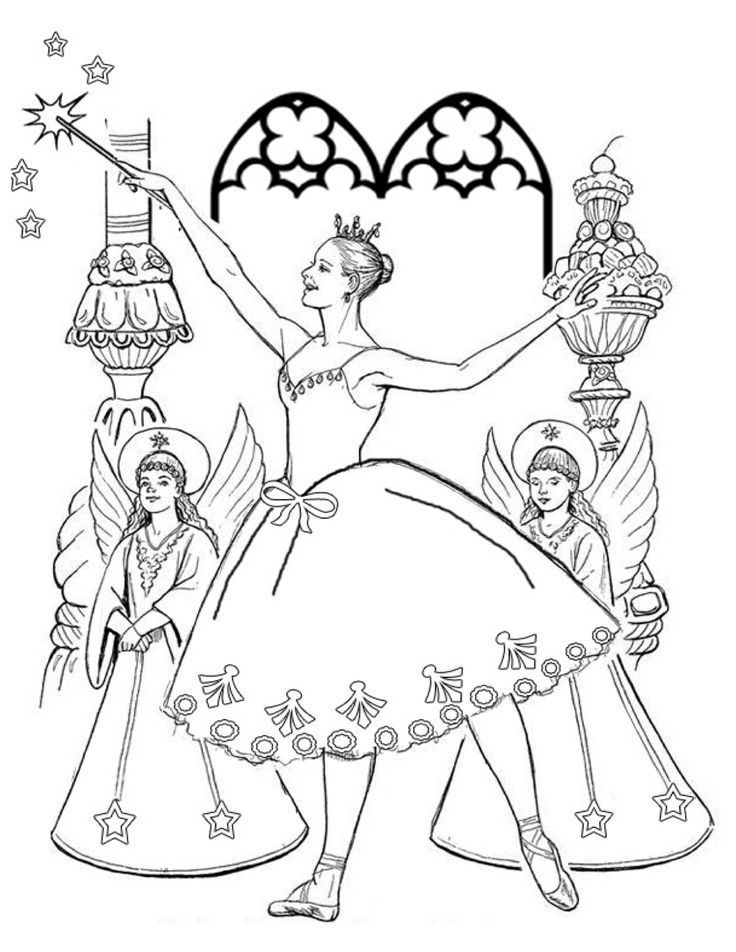 736x952 Sugar Plum Fairy Nutcracker Coloring Page Coloring Pages
