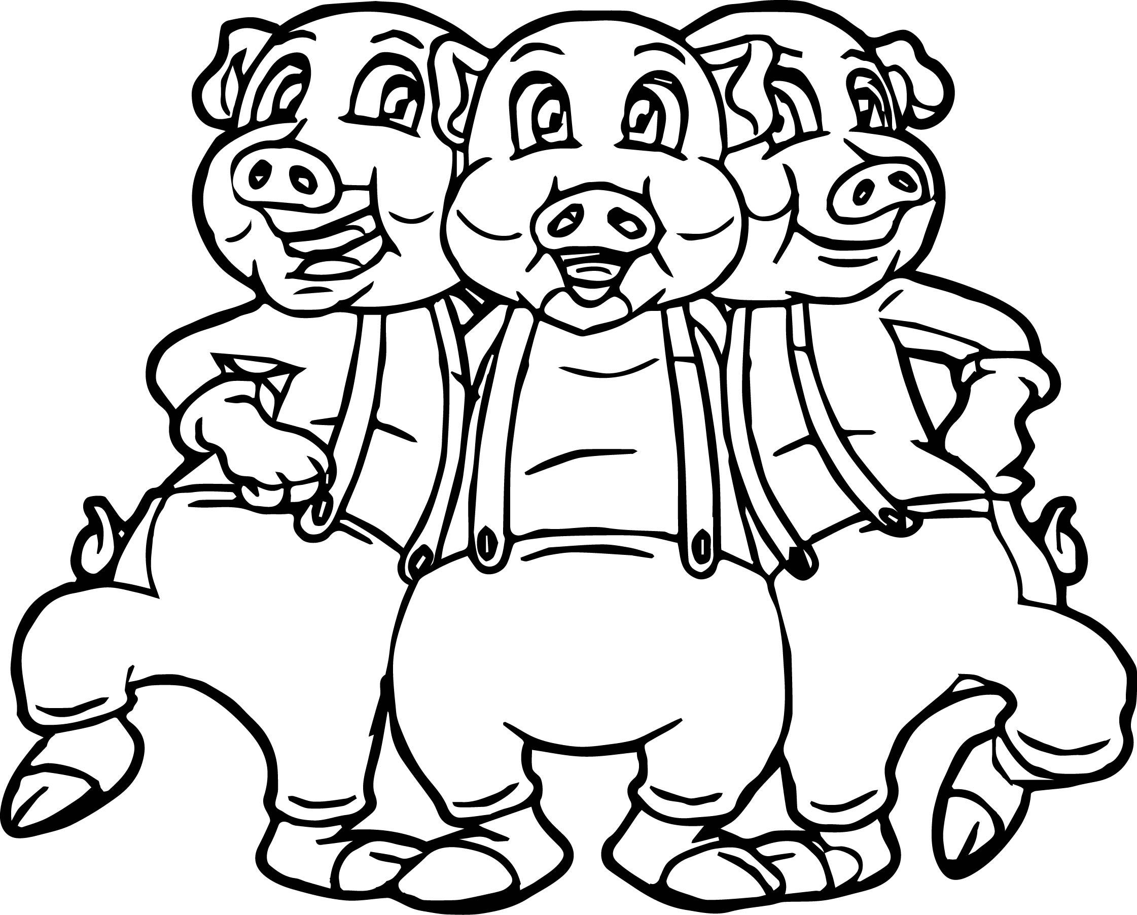2242x1804 Three Little Pigs Dancing Coloring Page Coloringsuitecom, Dancing