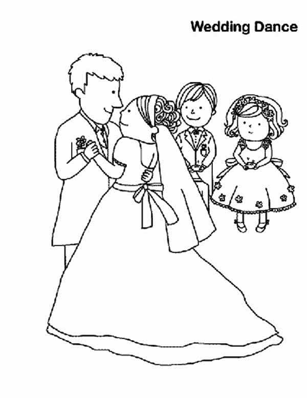 600x777 Wedding Dance Coloring Page Coloring Sun