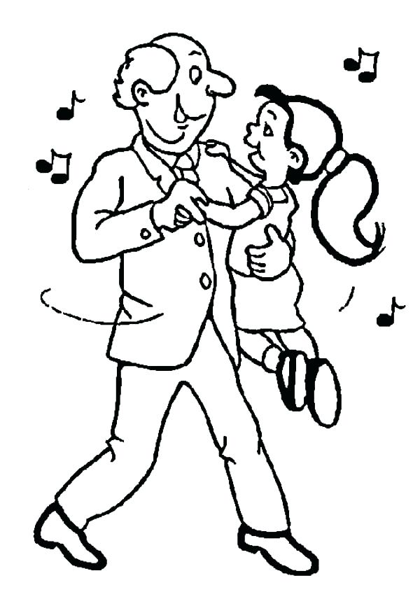 600x856 Dance Coloring Page