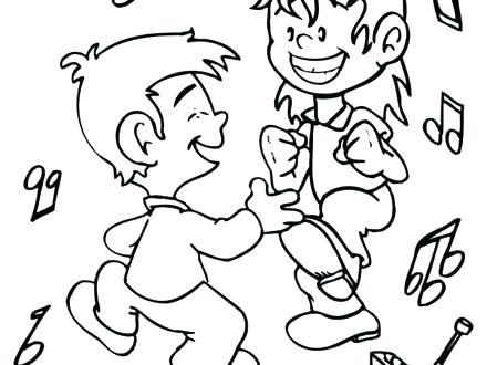 440x330 Dance Pictures To Color Dance And Dancing Coloring Page Get