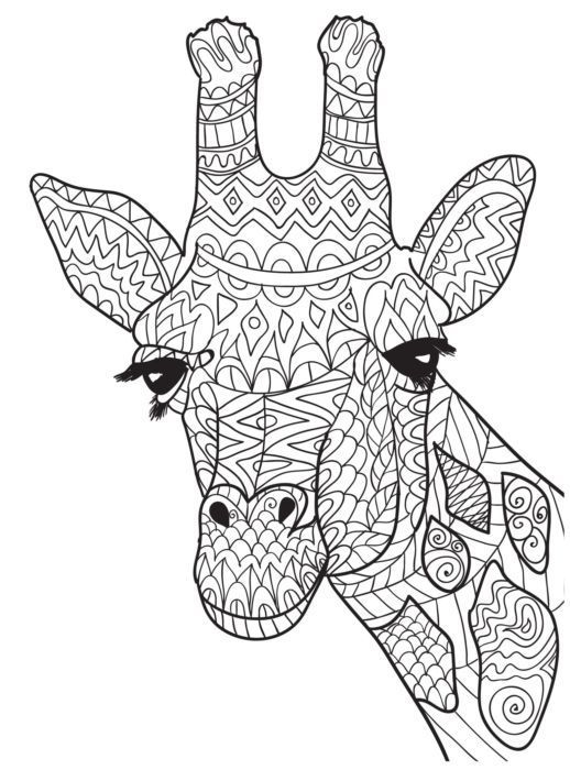 518x700 Giraffe Coloring Pages Awesome Ten Adult Coloring Pictures