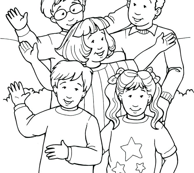 672x600 Hello Neighbor Coloring Pages Also Colouring Pictures Of People