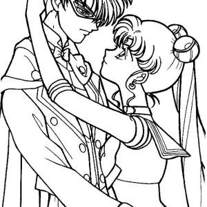 300x300 Sailor Moon Usagi Tsukino In Wedding Dress Coloring Page Color Luna