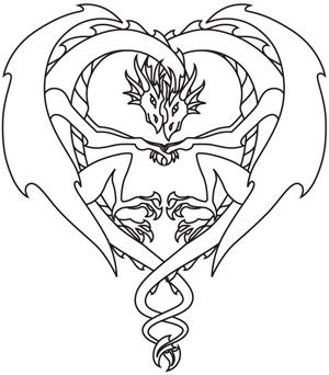 300x342 Coloring Page World Dragon Love Free Printable Coloring Pages