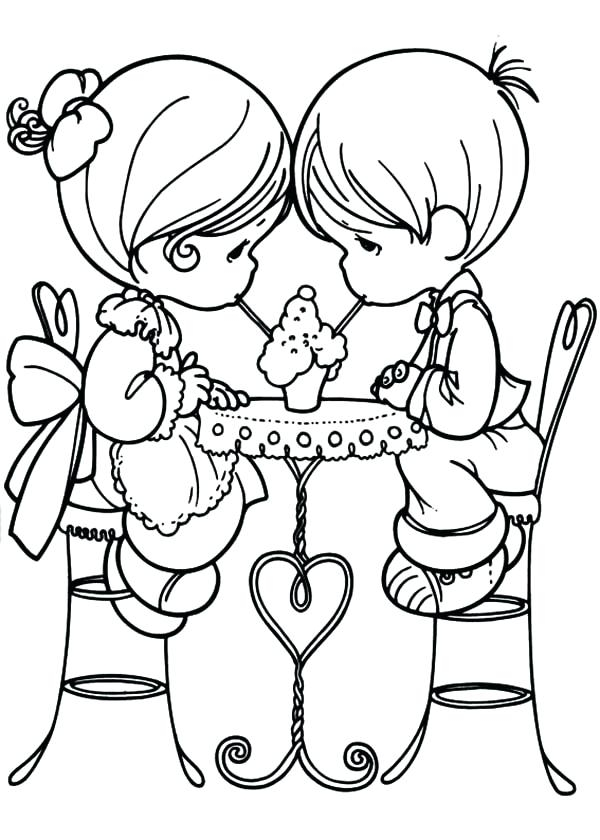 600x840 Coloring Pages Of People In Love