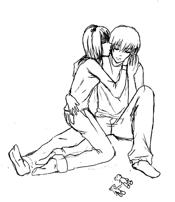 600x692 Kissing My Boyfriend I Miss You Coloring Pages Batch Coloring