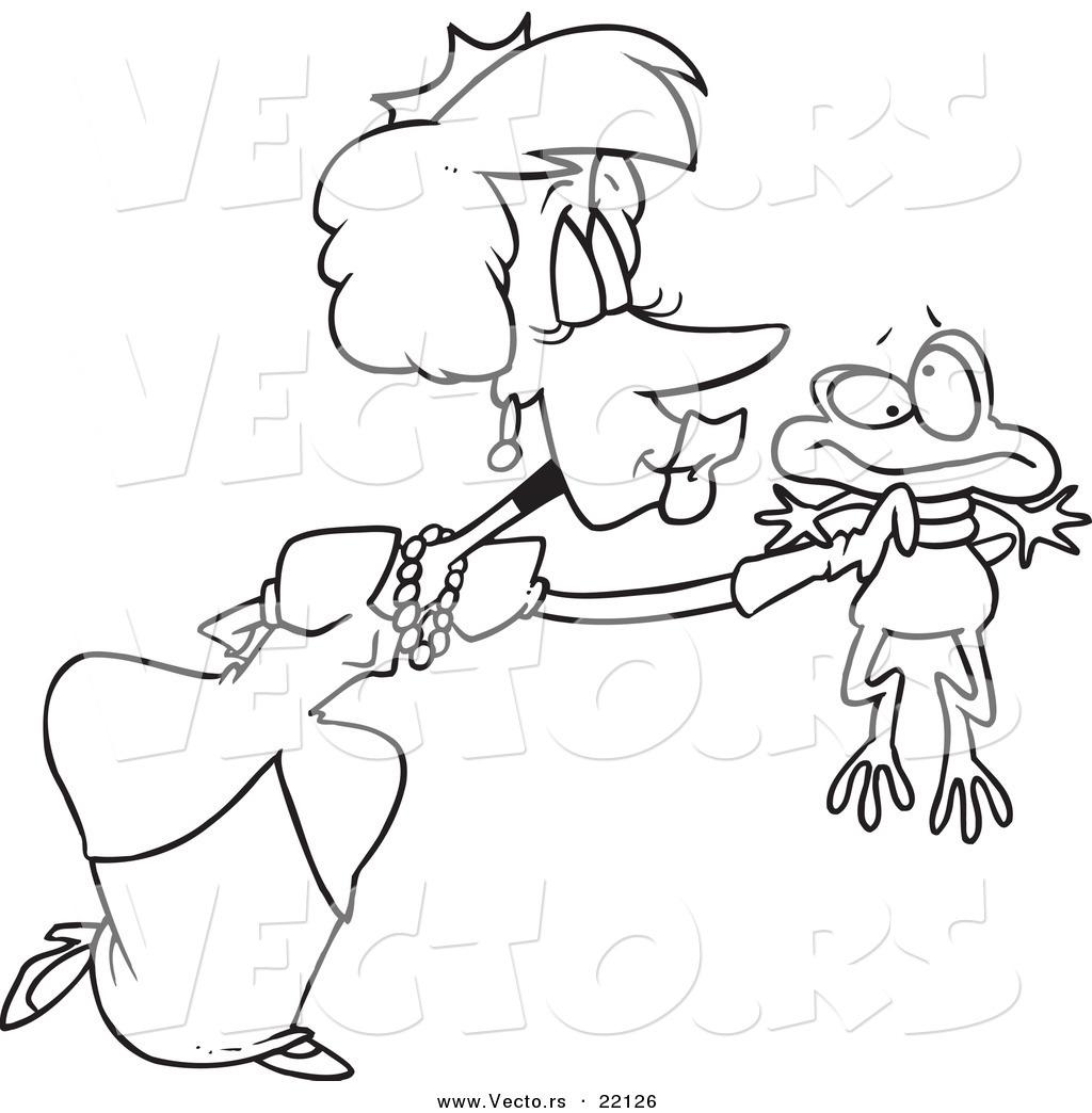 1024x1044 Vector Of A Cartoon Princess Kissing A Frog