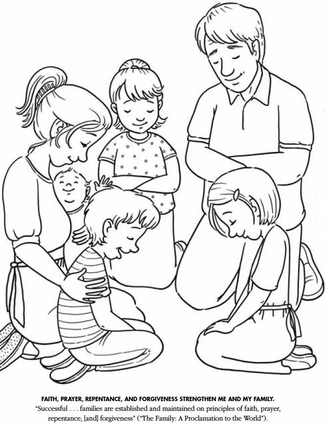 People Praying Coloring Pages