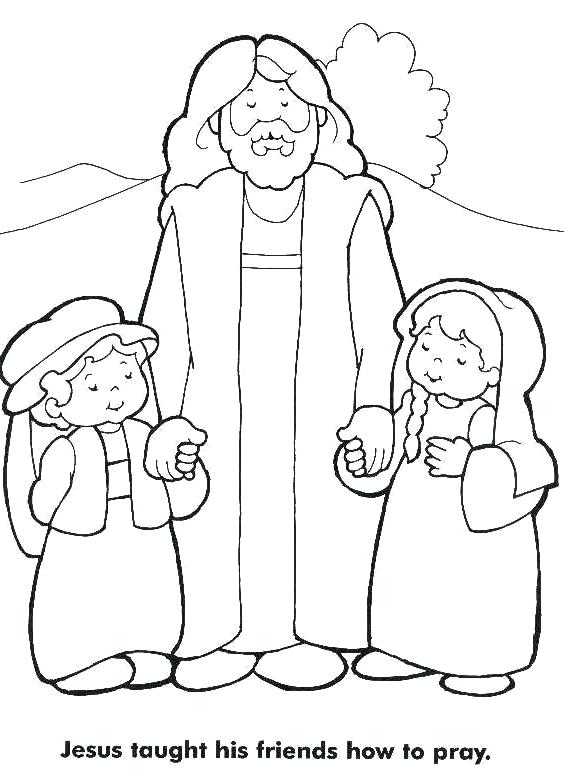 579x777 Child Praying Coloring Page Children Praying Coloring Page Learn