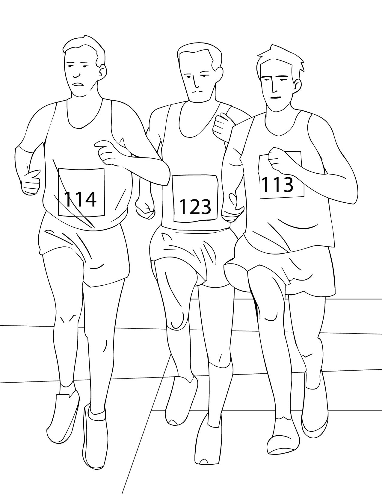 People Running Coloring Pages