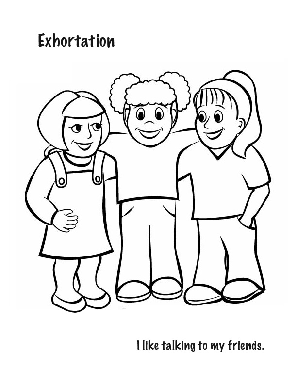 612x792 I Like Talking With My Friends Free Coloring Page Kids, Love