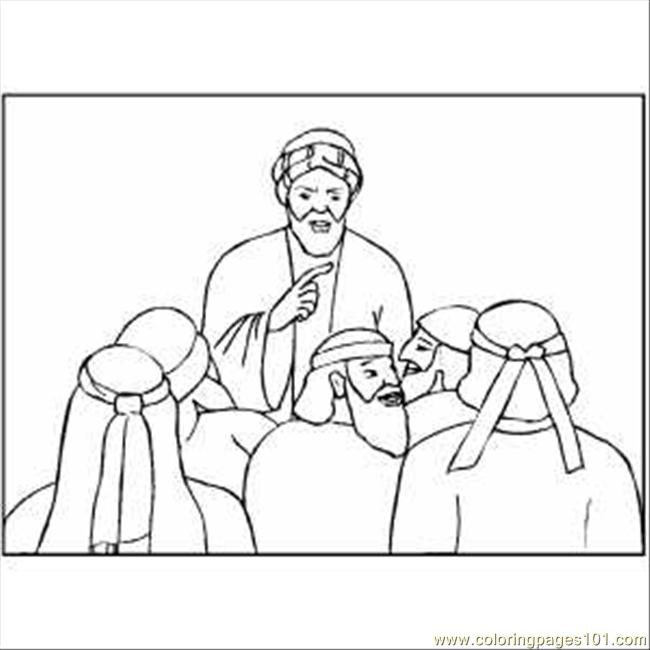 650x650 Noah Talking To People Coloring Page
