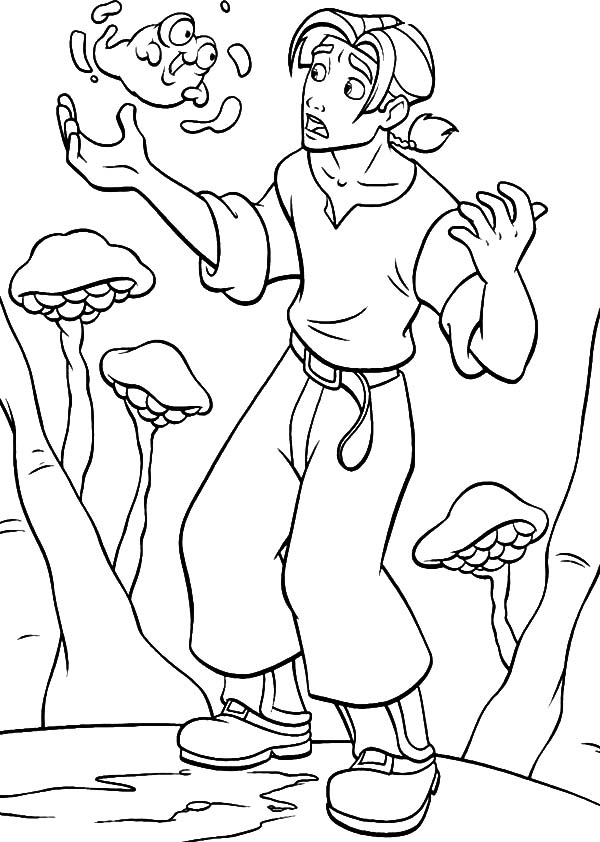 600x842 Treasure Planet Jim Hawkins Talking To Morph Coloring Pages