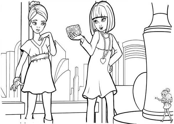 600x428 Vanessa Talking To Janessa In Barbie Thumbelina Coloring Pages