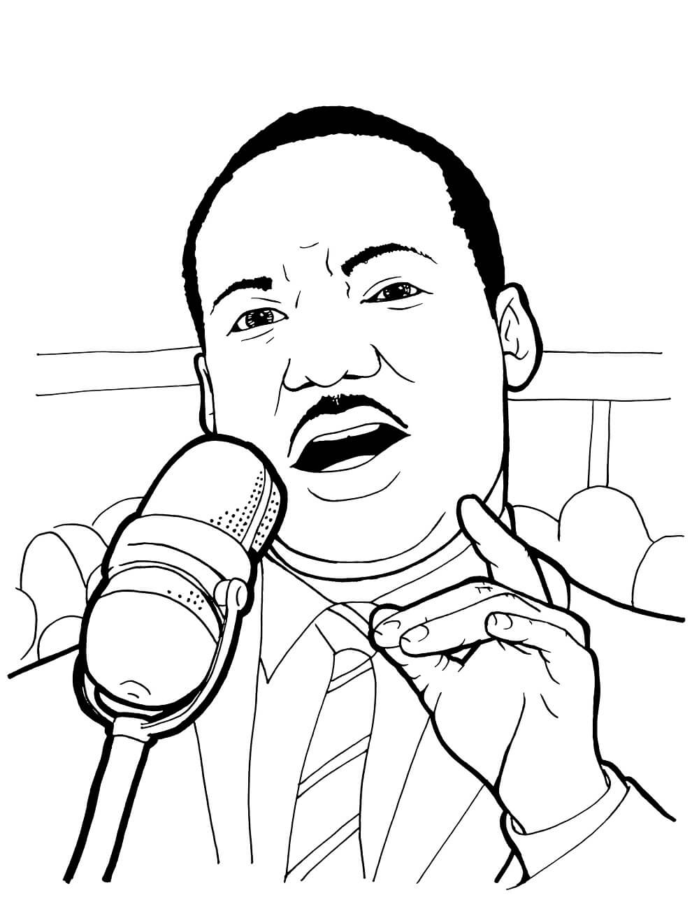 1000x1294 Free Printable Martin Luther King Jr Day Coloring Pages