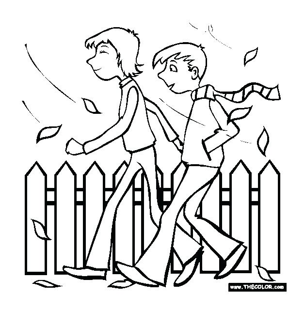 629x640 Fall Walk Taking A In The Free Autumn And Coloring Pages You Can