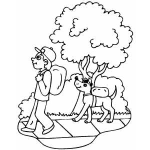 300x300 Walk The Dog Coloring Pages