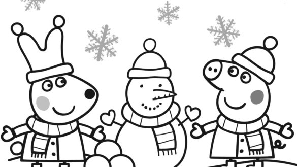 585x329 Peppa Coloring Pages Coloring Book Peppa Coloring Pages