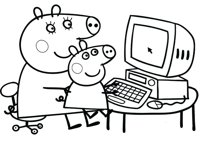 842x595 Peppa Pig Coloring Page