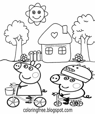 334x400 Beautiful Peppa Pig House Coloring Page Home Decor Interior