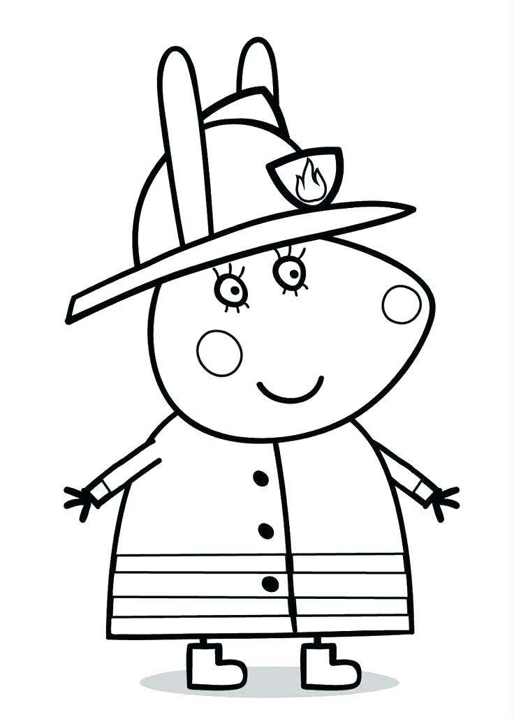 736x1030 Peppa Pig Coloring Page Coloring Pages Pig Pig Coloring Pages