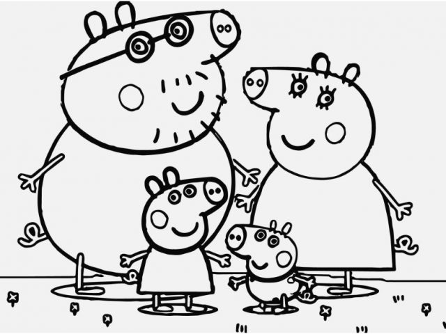 640x480 Peppa Pig Coloring Pages Image Stunning Le Peppa Pig Colouring