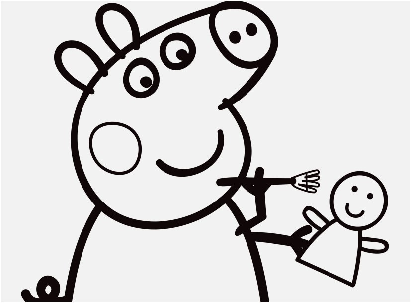 827x609 Peppa Pig Coloring Pages Pic Peppa Pig Coloring Pages To Print