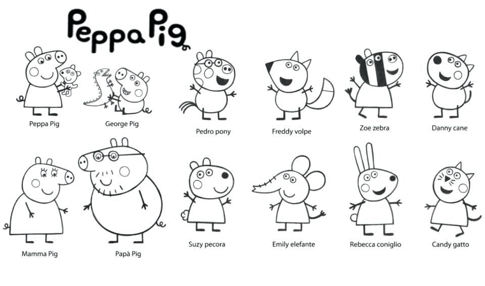 960x567 Peppa Pig Colouring Pages Printable Printable Pig Coloring Pages