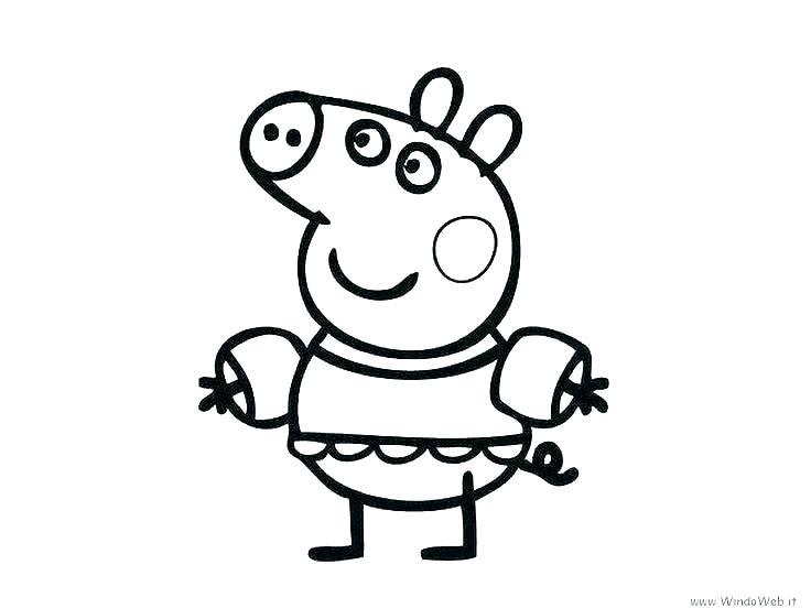736x552 Peppa Pig Printable Coloring Pages Pig Pig Printable Coloring