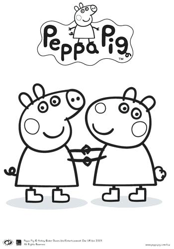 350x500 Pig Coloring Pages Peppa Pictures To Print And Color Free