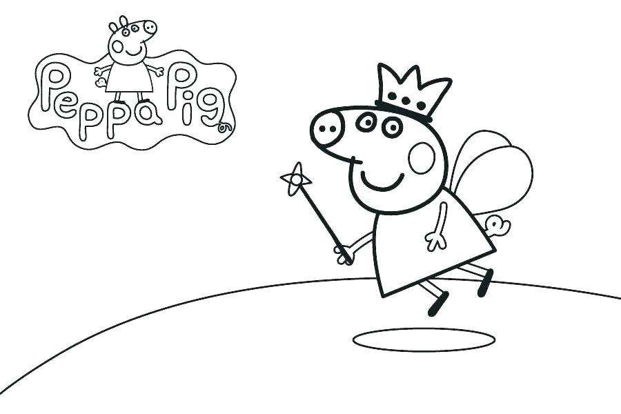 900x600 Free Printable Peppa Pig Coloring Pages