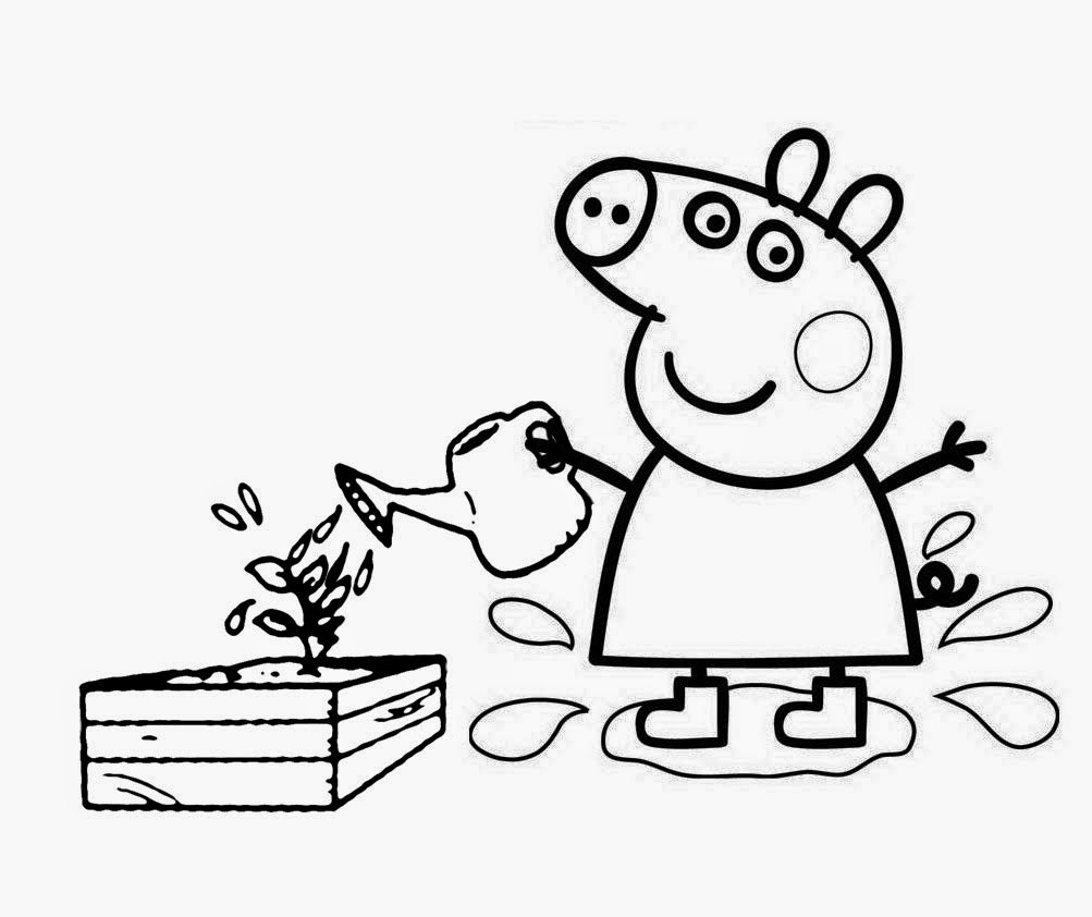 1003x842 Funny Cartoon Peppa Pig Coloring Pages