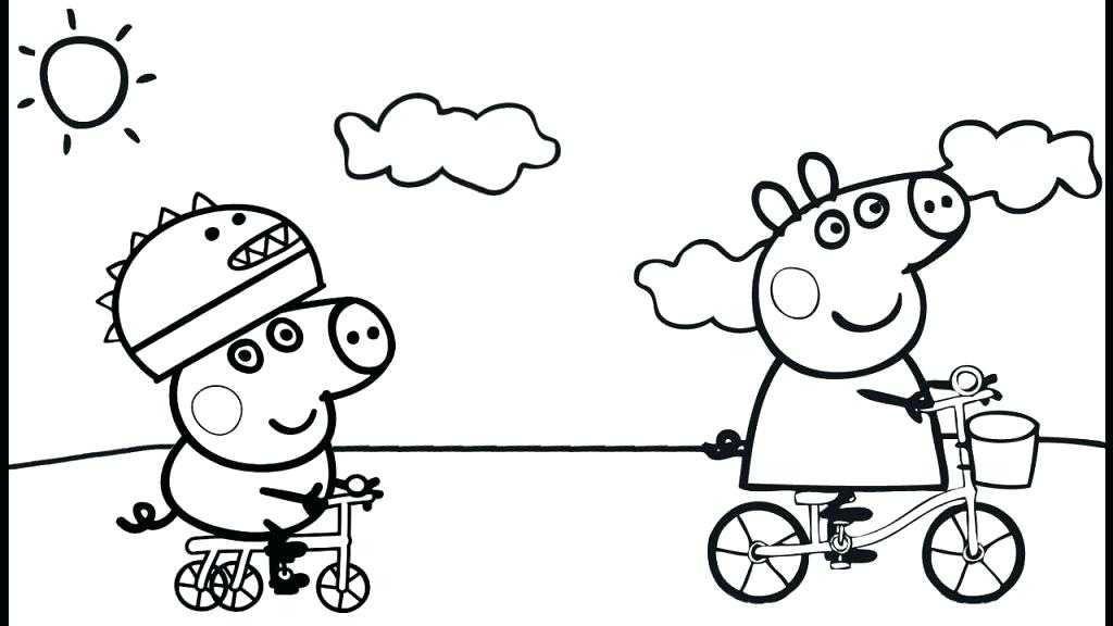 Peppa Pig And Friends Coloring Pages