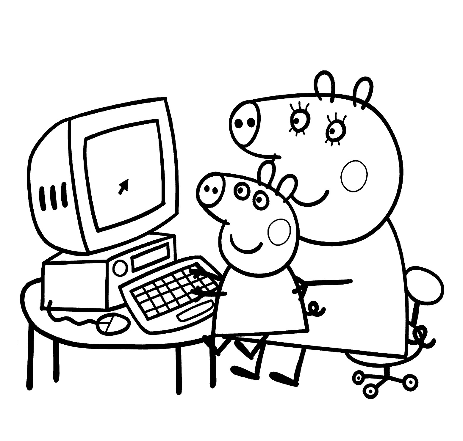 1556x1483 Luxury Coloring Pages Peppa Pig