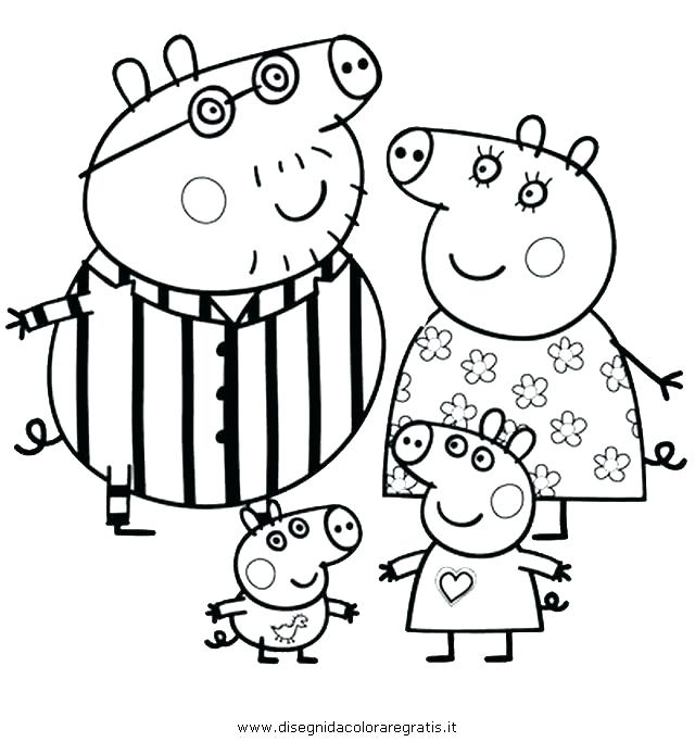 640x683 Peppa Coloring Pages Printable Pig And Friends Coloring Pages Pig