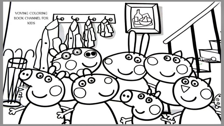 728x410 Peppa Coloring Pages