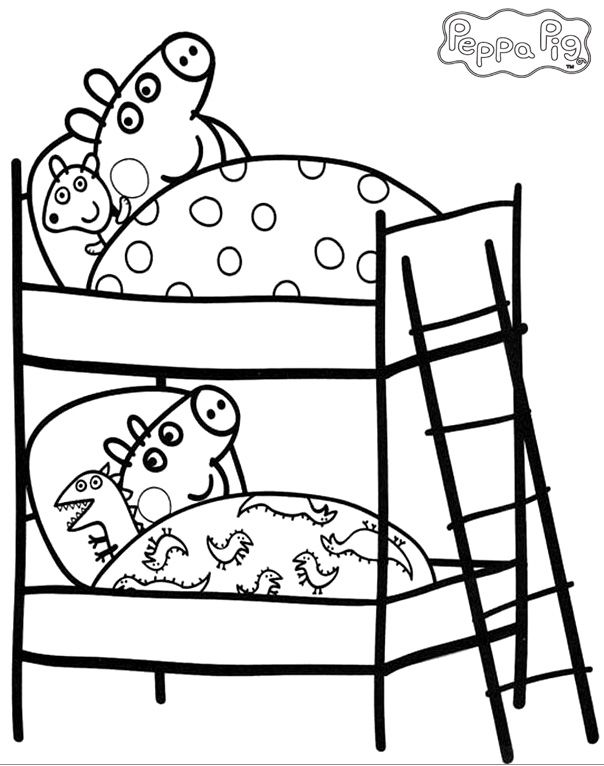 604x766 Peppa Pig Coloring Pages And Sheets