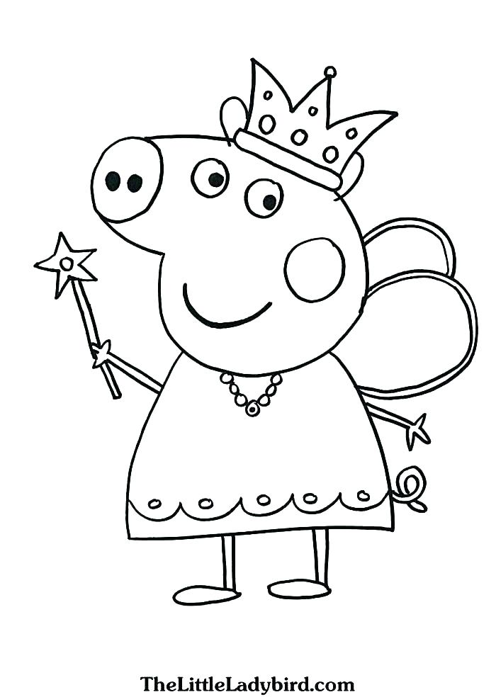 Peppa Pig And Friends Coloring Pages At Getdrawings Com Free For